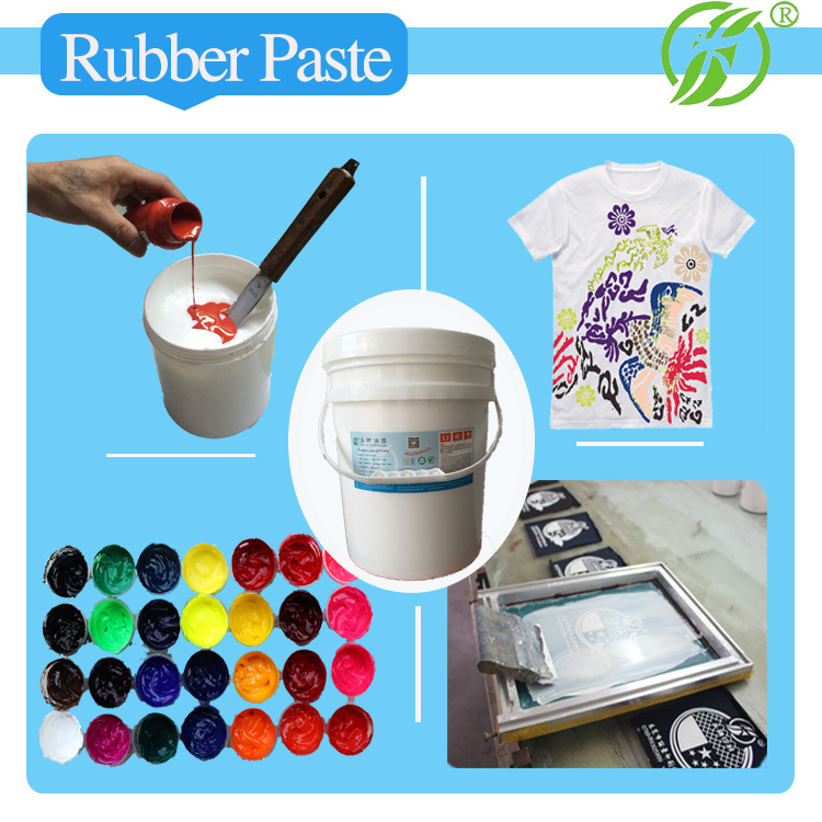 Machine printing white transparent rubber paste for Tshirt screen printing