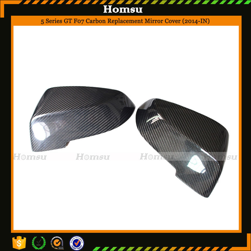 carbon fiber interior accessories outside mirror cover caps for 5 series gt edition F07 2014 -in