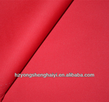 Specialize fabric manufacture 100% Polyester dty pu coating 150d ribstop fabric wholesale