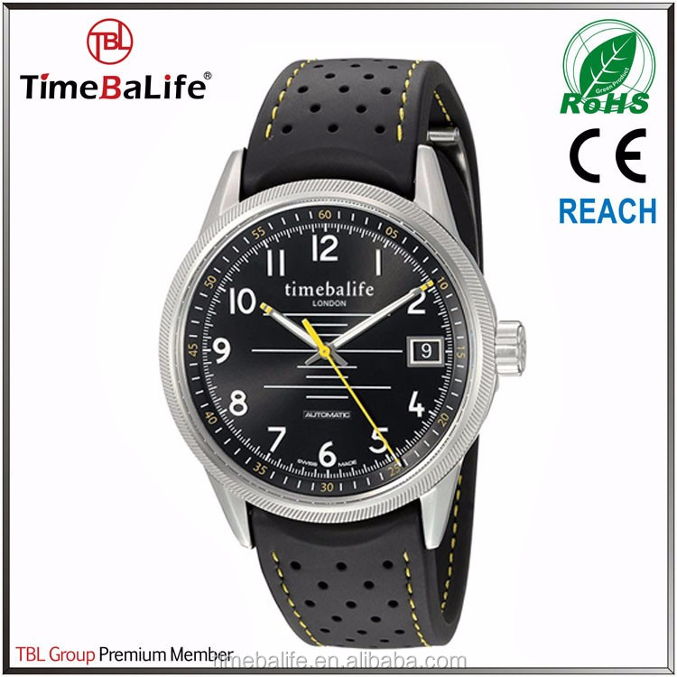 ShenZhen Manufacturers OEM 41mm Rubber Band Steel Case Automatic Men's Watch