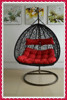 garden swing hanging cane chairs manufactures/ hammock round bed