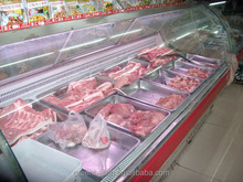 Green&Health supermarket meat display showcase refrigerator, meat shop equipment used deli case in refrigeration equipment price