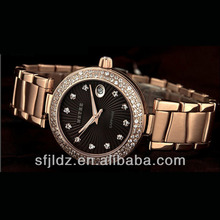 Quartz 30m water resistant genuine leather diamond luxury women's quartz fashional christmas watch