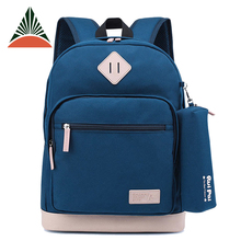 High Class Students 12oz Canvas Rucksack School Backpack With Pencil Bag