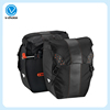 Factory Custom Large Pockets Bicycle Pannier Bag Bike Bag with Adjustable Hooks and Reflective Trim