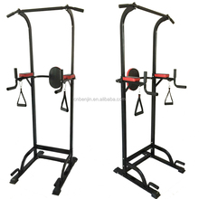 Total body equipment home power exercise station gym dip stand pull up tower