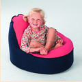 Navy + pink seat top baby bean bag chairs , 2 upper covers beanbag snuggle pods