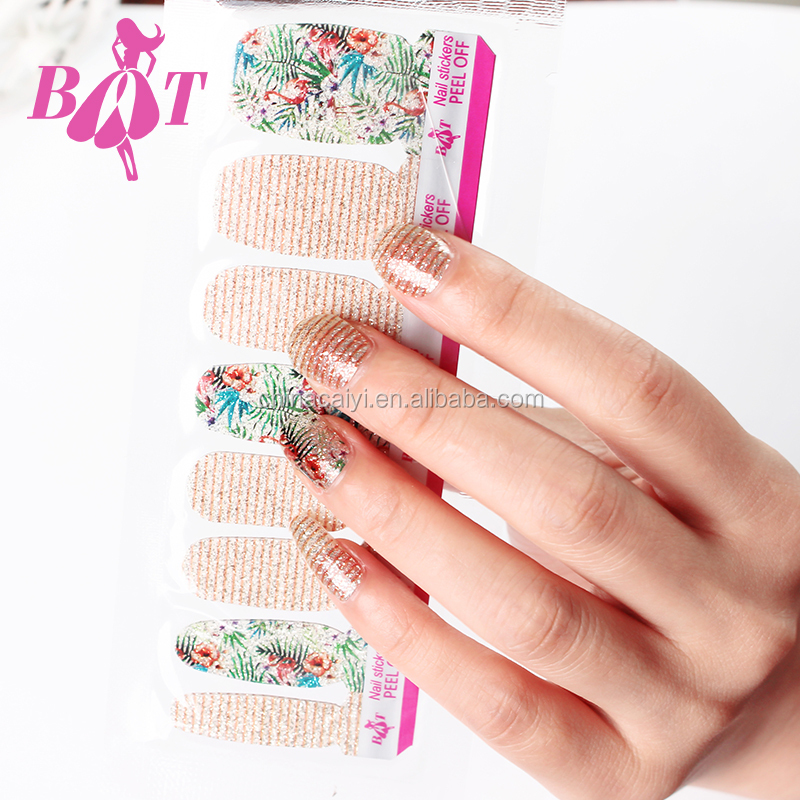 Beitian New Arrival Drops Water Pattern Decorate Multicolor Gradient Nail Stickers