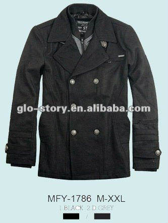 Men long woolen jacket for newest winter season of fashional deisgn