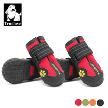 Truelove Red Pet Shoes For Dog Booties, Waterproof Dog Boots Waterproof Dog Shoes For Summer Winter, Fashion Dog Shoes For Dogs