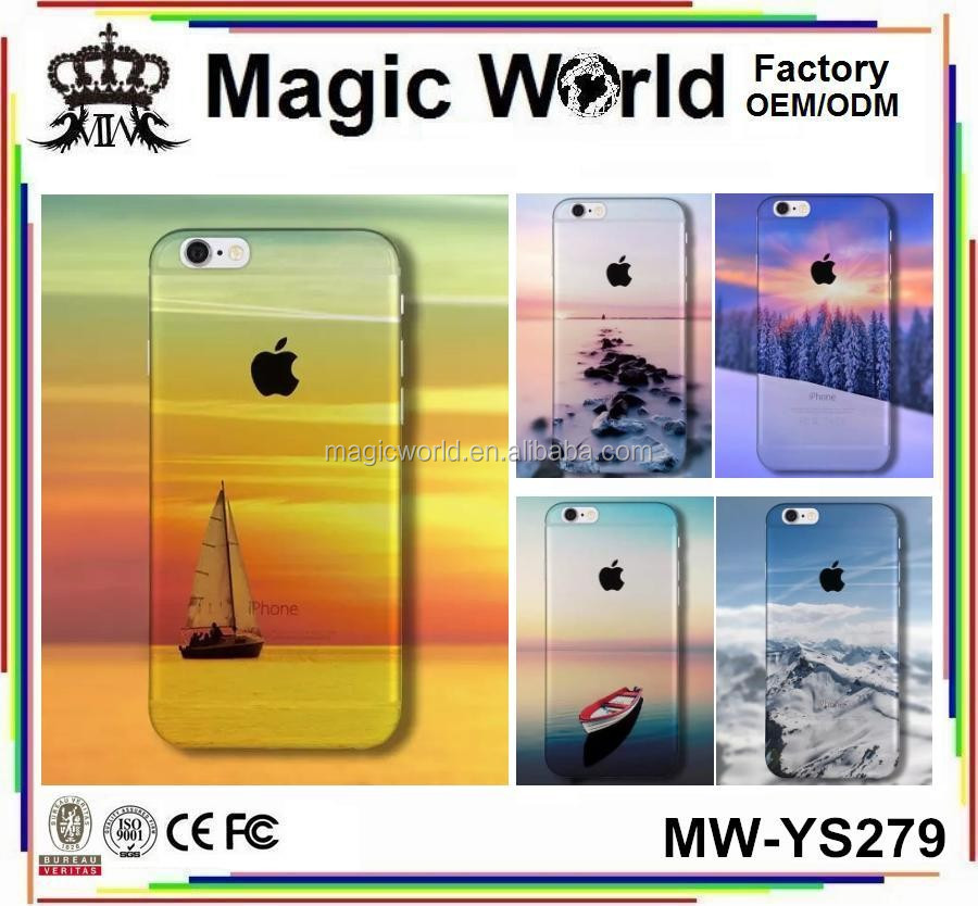 3D BEAUTIFUL SCENERY TPU PRINT DESIGN PHONE CASES FOR IPHONE