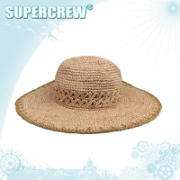 Good Qualituy Original Promotion Plain Straw Hat With Nature Color Wholesale