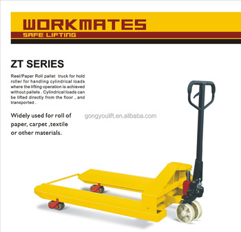 Paper Roll Pallet Truck Lift Jack / With CE / Casting/Welding Pump
