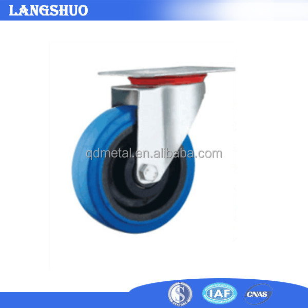 Swivel or Fixed Industrial Rubber Caster Wheels 100 mm