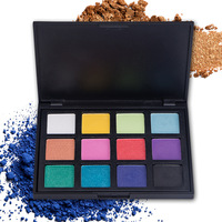Wholesale Waterproof Eyeshadow Palette Cosmetic Custom 12 Colors Shimmer Eyehsadow Palette Private Label Makeup Eye Shadow