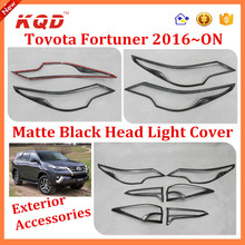 Toyota Fortuner Head lamp Cover For Fortuner 2016 Headlamp/Headlight Cover Used Toyota Fortuner 2015 Matte black Head lamp cover
