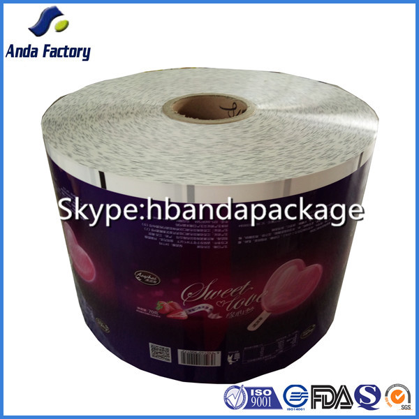 plastic opp material film roll ice cream bar packaging bag