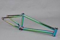 Chromoly4130 Butted oil slick frame battery in frame electric bike