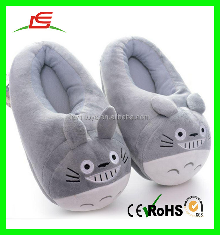 High quality factory direct wholesale kids cartoon plush animal totoro bedroom slippers