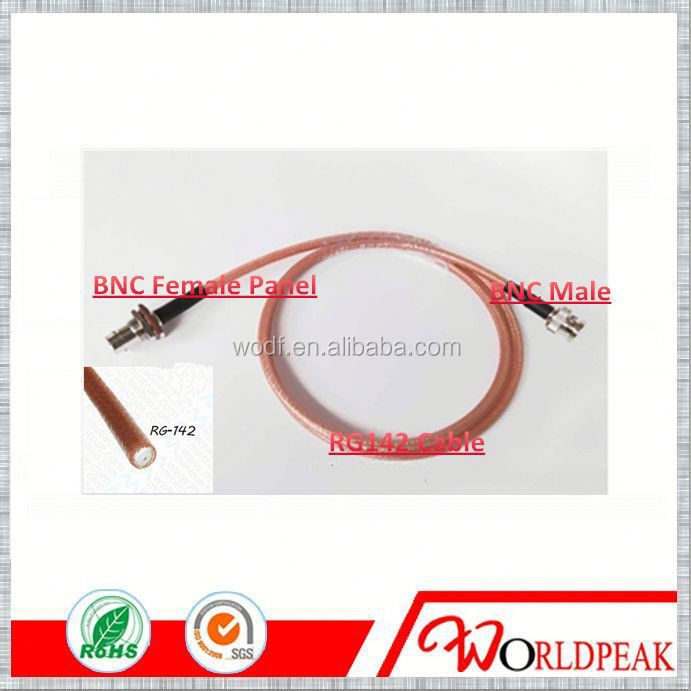 RG142 RF Cable jumper Type BNC Female Jack Panel to BNC Male Plug