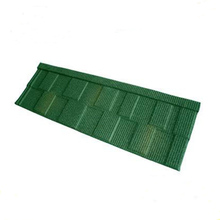 Asa coated spanish pvc color stone chip metal roof tile