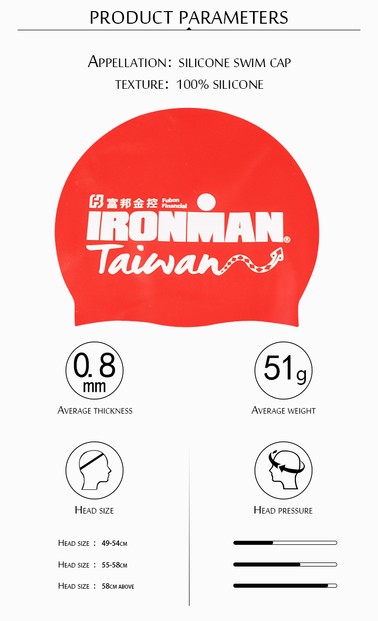 Free Sample printing Customized Logo hats 100% Silicone Swim Cap with Adult and Kid Size
