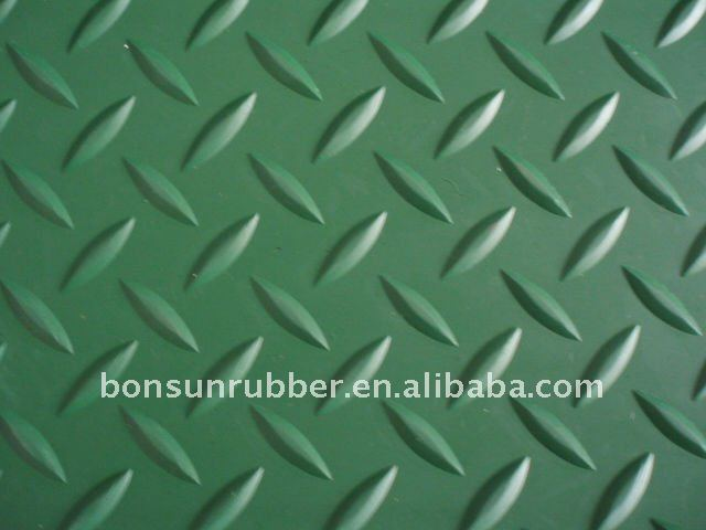 good quality gym diamond groove rubber sheet