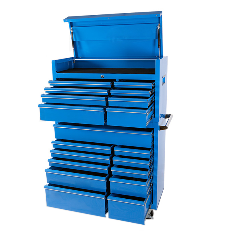 "NEW premium Heavy duty automotive 42 Inches 19 drawers Width 42"" Depth 18"" Height 58"" Blue Combination Tool Chest Cabinet"