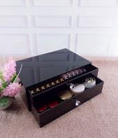 Made in China Luxury Black Acrylic Cosmetic Storage Organizer Box For Makeup