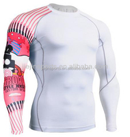 wholesale mma rash guard shirts for mens surfing swimming
