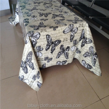Plastic printed butterfly heat resistant tablecloth buy heat resistant tablecloth butterfly - Heat resistant table cloth ...