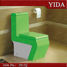 washdown one piece_hydraulic water closet wc_green color toilet with slowdown seat cover