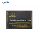 New European Custom Embossed Hot Stamp Leather Label for Clothing