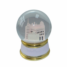 Customized Acrylic Castle Brand House Crystal Snow Globe Wholesale with Resin Base in High Quality