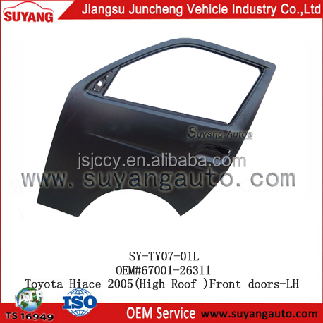 High Quality Front Door for Toyota Hiace 2005 classic car body parts (LEFT HAND DRIVE)