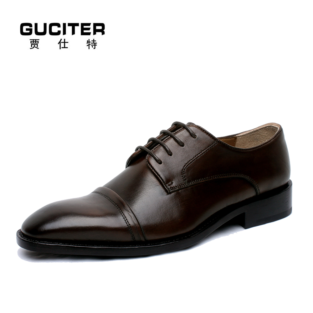 Manual custom handmade shoes men Goodyear welted shoes brown color good-looking men shoe large size EU 50 51