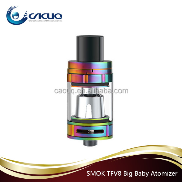 Ecig Atomizer Smok TFV8 Tank V8-Q4 V8-T6 V8-T8 TFV8 big Baby with new color blue ,rainbow and gold