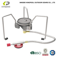 Portable outdoor stove cooker gas with burner tube
