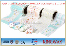 < Kingway> Breathable pe film and nonwoven lamination backsheet for diaper quotation