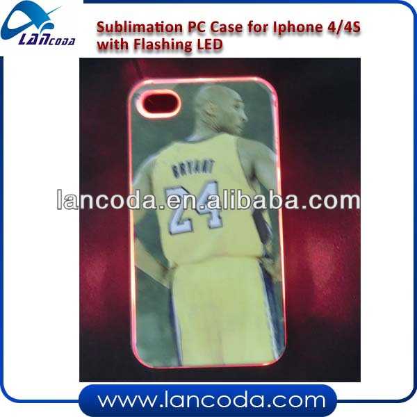 Sublimation LED Phone Cover for iphone4/4s