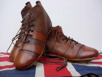 VINTAGE LEATHER RUGBY AND FOOTBALL BOOTS