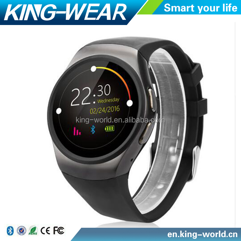 [ In stock ] Kingwear KW18 Bluetooth 4.0 Heart Rate 2G GSM Smart Watch Phone For Android iOS