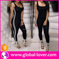 China Hot Sell Jumpsuits 2016 Designer Jumpsuits Lady Cotton Jumpsuits