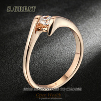 ladies pure fancy designs new gold ring italian baby engagement beautiful gold ring for girls