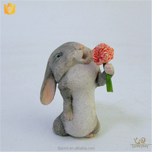 Hot Sale Favor Set Resin Miniature Rabbit Statues Anniversary Wedding Gifts for Guests Souvenir Items