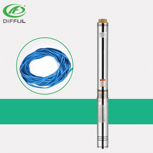 deep well submersible pump parts 7hp submersible agriculture water pump