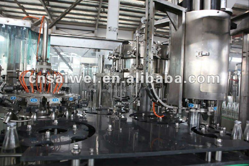 glass bottle CSD/beer filling machine