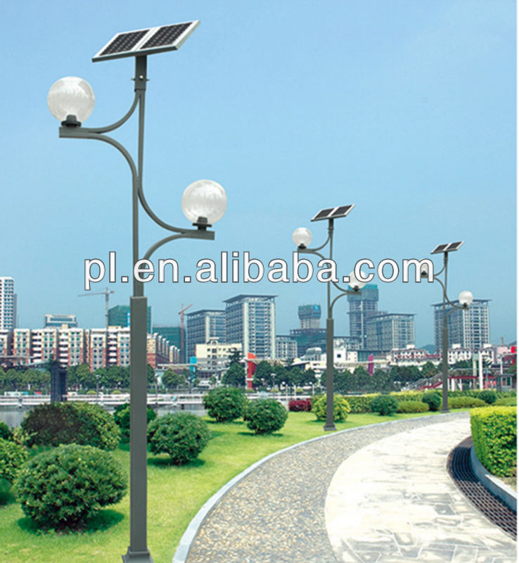 High quality steel and decorative solat garden light/garden lamp pole 3M 4M