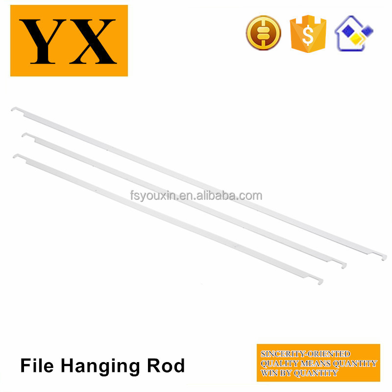 Golden trade supplier white striped steel hanging file rod