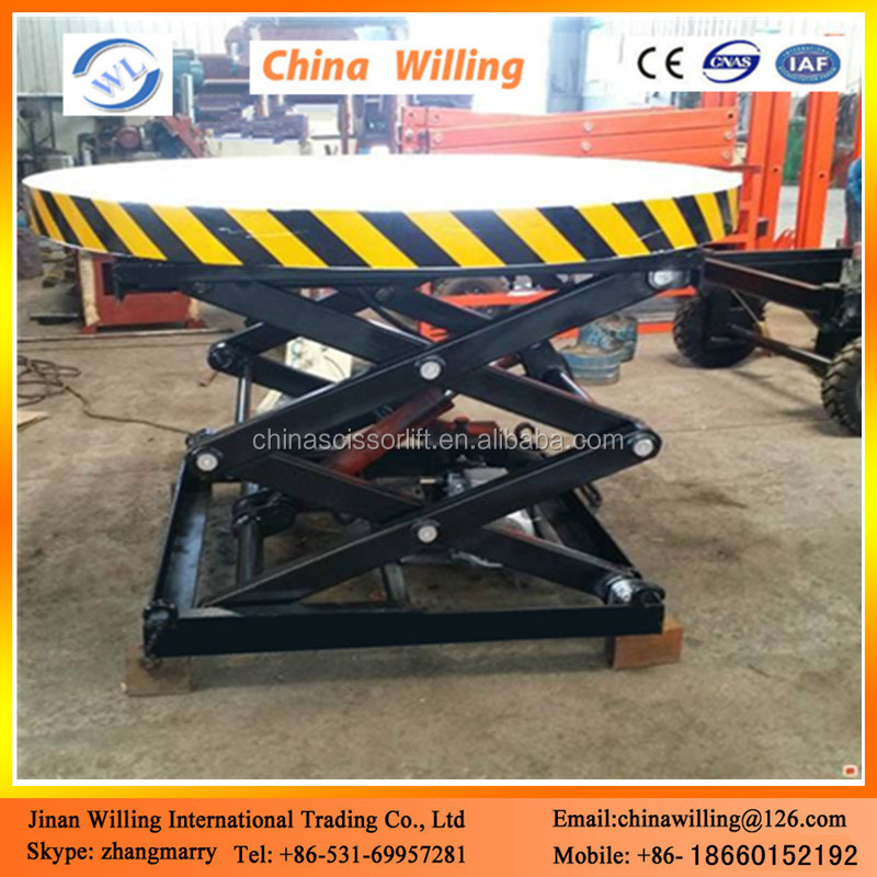 Electric hydraulic scissor elevating stage platform